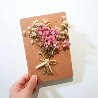 Dried Pink Baby Breath Flowers Gift Card