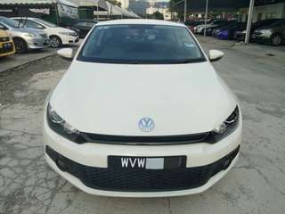 SAMBUNG BAYAR/CONTINUE LOAN  VW SCIROCCO TSI 1.4 AUTO YEAR 2012 MONTHLY RM 1200 BALANCE 5 YEARS + ROADTAX VALID PADDLE SHIFT TIPTOP CONDITION  DP KLIK wasap.my/60133524312/scirocco