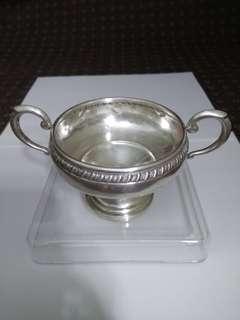 US Antique 1955 Sterling Silver Suger Bowl, CROWN SILVER INC, 9.0cm dia, x7.7m tall, 106.95g, 美國古董純銀糖罐/碗/杯 (實用+裝飾擺設)  www.silvercollection.it/americansilvermarkscdue.html  ringo77511@yahoo.com