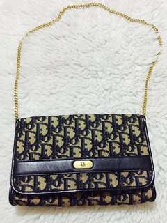 Authentic Vintage Christian Dior Trotter Clutch/ Chain Bag