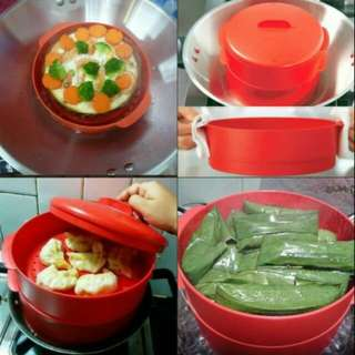steam it tupperware red