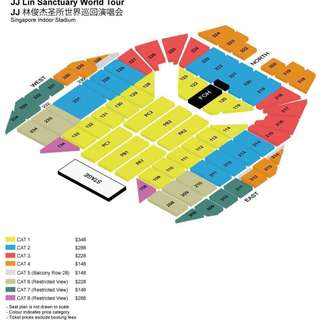 WTB: 2x JJ LIN SANCTUARY WORLD TOUR TICKET!