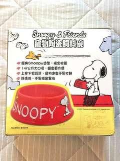 🚚 7-11史努比寵物陶瓷飼料碗 (有兩個)