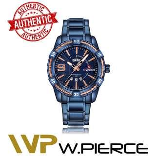 NAVIFORCE 9117 W.Pierce Men Watch Date Week Sport Mens Watches Top Brand Luxury Military Army Business Steel Band Wrist Quartz Male Clock 9117 Casio,Zoo York,Timex,Time Depot,Mossimo,G-Shock,Gshock