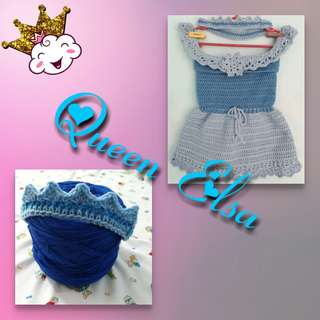 Handmade Crochet Princesses Dress 👸💓