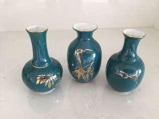 Quick sale - tiny 10cm ht Vases