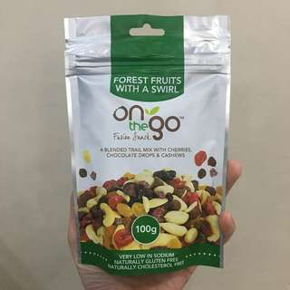 On The Go Forest Fruits with a Swirl trail mix 100g