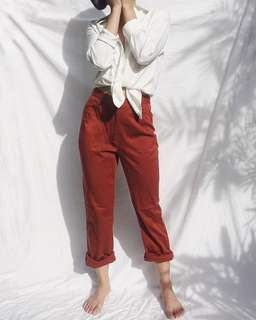 GIORDANO Red Pants
