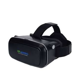 "(543) AIZBO 3D VR Virtual Reality Headset 3D VR Glasses For Samsung iPhone 4~6"" inch Smartphones for 3D Movies and Games, letting everyone enjoy an immersive 3D experience, Adjustable Strap (Black)"