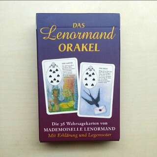 AUTHENTIC German Lenormand Fortune Telling Card Deck, Made In Germany, ISBN Certified