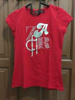 Zara Red Tshirt