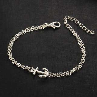 Boho Double Layers Anchor Anklet