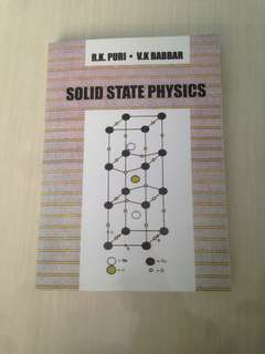 Solid state physics (R.K.Puri • V.K Babbar) (buku fotokopi )
