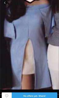 Long sabrina in blue pastel