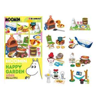 Re-ment Moomin Happy Garden 原裝大盒 1 Set 全8種