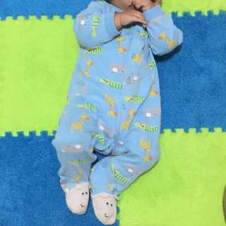 Carter's Blue Printed Frog Suit