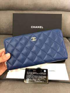 Brand new chanel zipped Long wallet