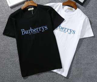 Burberrys Blue Embroidery Top