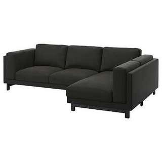 Sofa Minimalis Hitam Polos Modern yuk bisa kredit