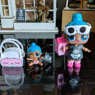 lol surprise confetti pop series 3 - sleepy bones big and little Sister