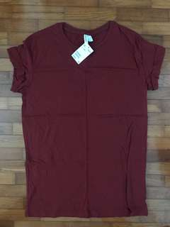 Hnm red tshirt dress