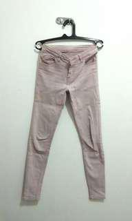 Jeans skinny soft pink baby pink