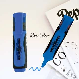 NEW! 9 x Fluorescent Highlighter, Chisel tip, Blue Color