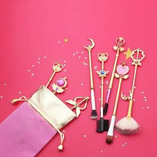 Sailor moon make up brushes set