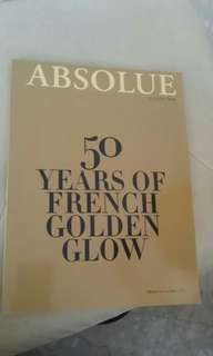 """50 years of french golden glow-""""Absolur by lancome"""