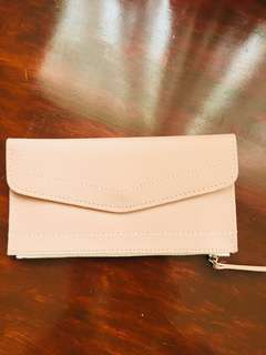 Ladies Long Slim Wallet - Blush Pink
