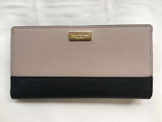 Kate spade Stacey wallet black and almond beige nude