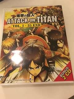 🚚 Attack on Titan 1st season lcnsd DVD