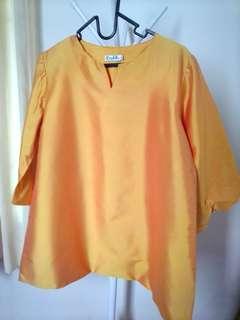 Blus Shantung Orange