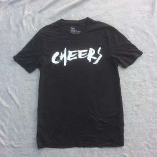 GIORDANO BLACK TEE CHEERS