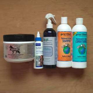 Epiotic Advanced Ear Cleanser + Richard's Organic Skin Spray +Earthbath Conditioner and Shampoo + FREE NUPRO