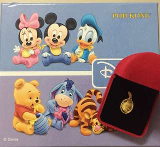 Baby Minnie Gold pendant - 916 gold