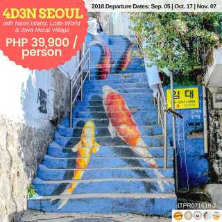 4D3N SEOUL with Nami Island, Lotte World and Ihwa Mural Village