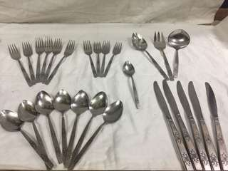 Oneida spoon and fork