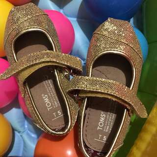 toms gold shoes