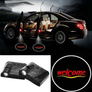 Wireless Car LED Projector Door Shadow Logo Light Lamp Courtesy Magnet Sensor