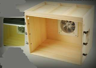 Available Now! Not pre-order SCAMS 1 set only     airbrush spray paint booth wood with exhaust fan LED led lights n pen holder