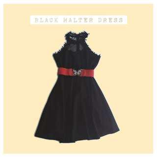 (repriced) black halter dress