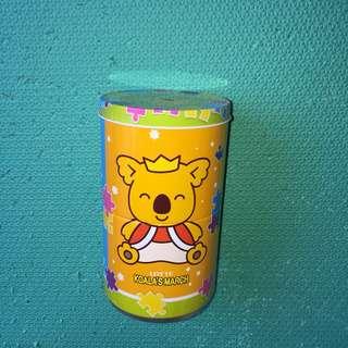 樂天小熊 可拆式 旋轉 鐵罐 圓罐