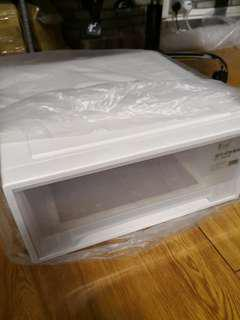 Good quality plastic stackable drawer 45x45x20cm