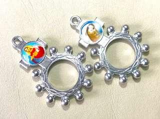 Dual Image Charm Rosary Ring