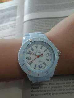 Unisilver paleblue watch