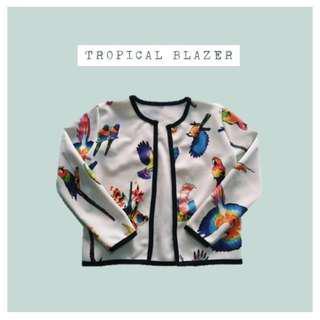 (repriced) tropical crop blazer