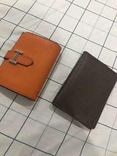 Louis Vuitton LV card holder / Hermes short wallet