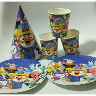 *FREE DELIVERY to WM only / Ready stock* Pororo party decoration each design as shown in design/color from RM18. Enquire within. Free delivery is applied for this item.