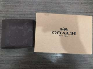 NEW COACH Man Wallet. Mahogan color. Coach 啡色銀包.